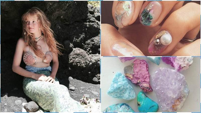 貝殼、泡泡和礦物!「美人魚指彩」旋風襲擊這個夏天!