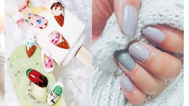 原來想要在家DIY立體的指甲彩繪,只需要將指甲油跟___混合就可以了,傻眼的簡單啊!