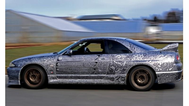不是隨便亂畫的!霸氣GTR車體塗鴉