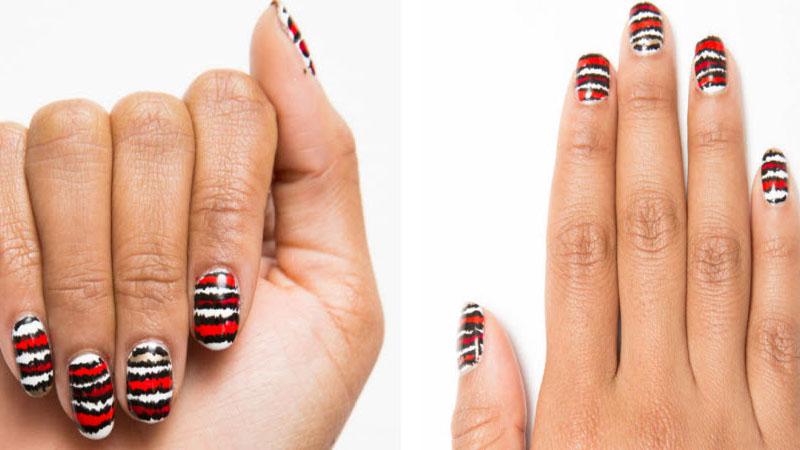 今年夏天就是要條紋!簡單條紋指彩畫法大公開,手殘女孩也學得會