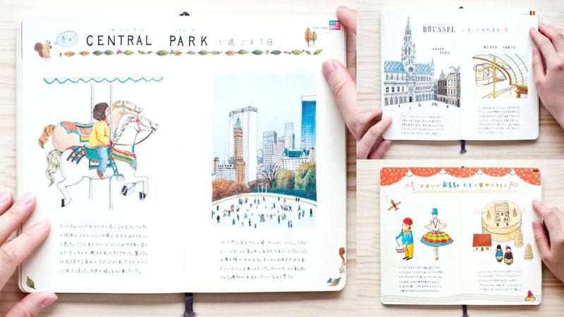 帶你用眼睛去旅行!來自日本插畫師的旅遊手賬,精緻排版和用色實在美得太過份!