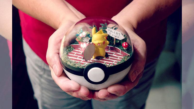 超夢幻「寶可夢水晶球」!好想縮小跟小火龍一起住阿❤