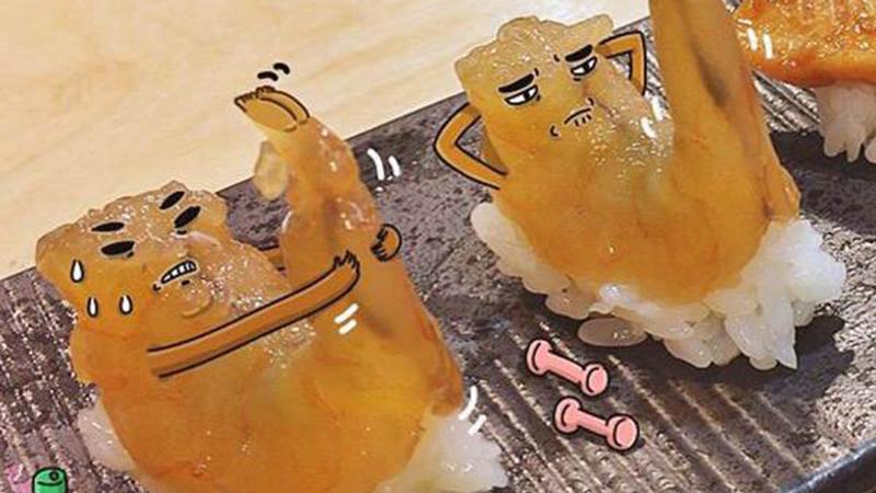 炎炎夏日連蝦子也練起人魚線!插畫家畫出食物的真實表情,竟然都有諧星魂!/