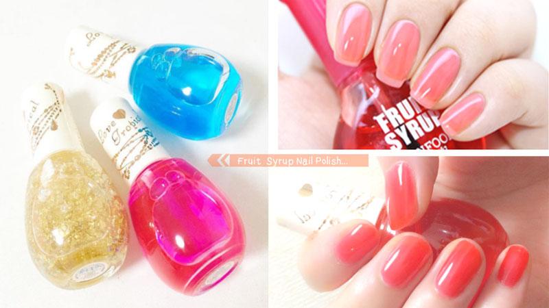 好想舔一口!4款人氣果糖漿指甲油,透明感的粉嫩顏色太誘人了〜