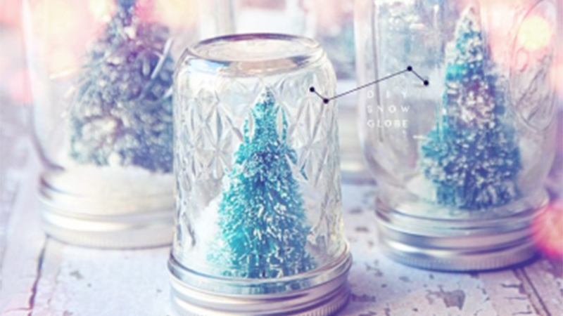 原來雪花玻璃球那麼簡單!現在趁著聖誕節前夕就來自己做一個吧