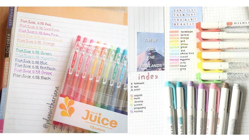 你們一定用過的彩色筆!療癒繽紛的水感顏色,讓你抄筆記更起勁有趣〜