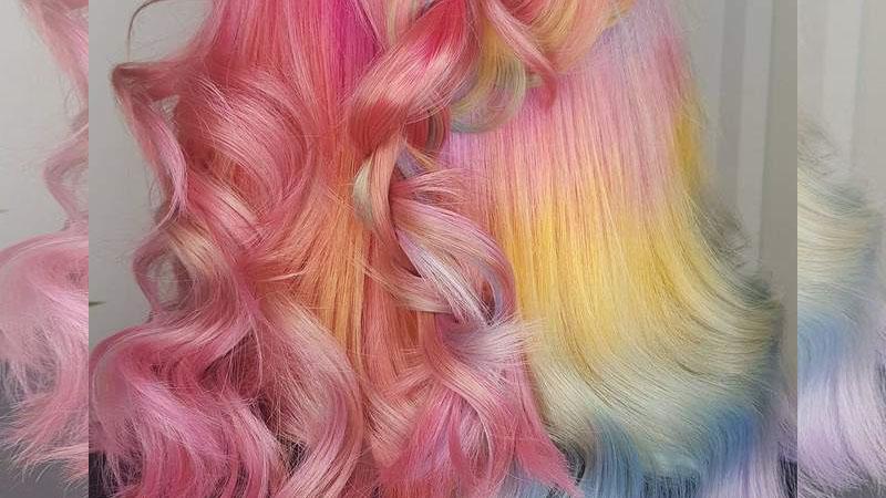 ♪《獨角獸星冰樂染髮》在頭髮上也是個超夢幻髮型