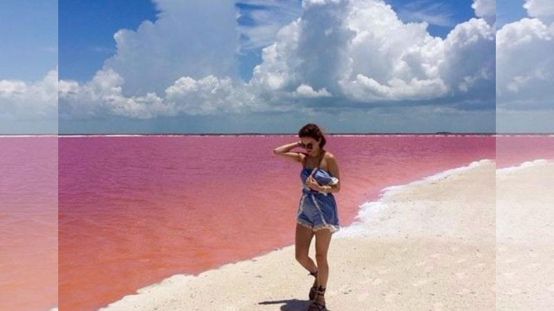 ♪這是夢吧?世界上真的有個地方有粉紅色的湖!